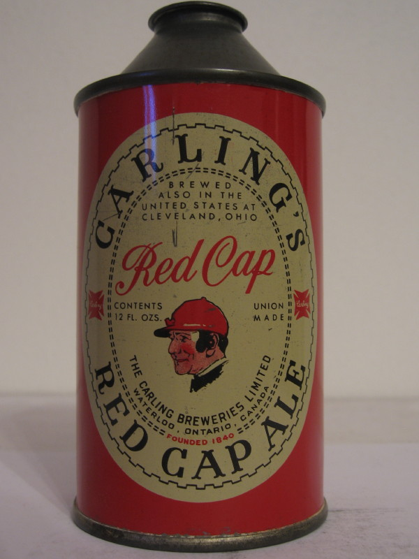 CANADA CARLING´S RED CAP (cone top) side 1