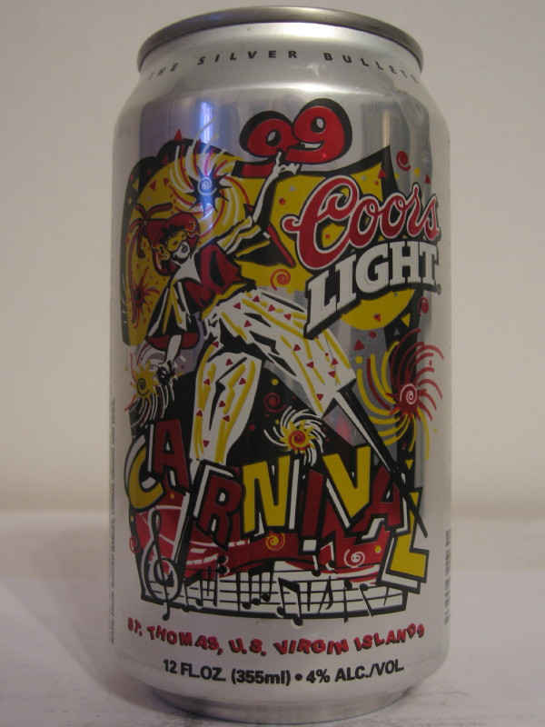 U.S. VIRGIN ISLANDS COORS LIGHT (AL can)