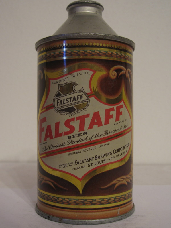 USA FALSTAFF BEER (cone top) side 1