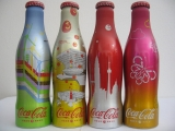 Coca Cola alu bottles EXPO complete set from China