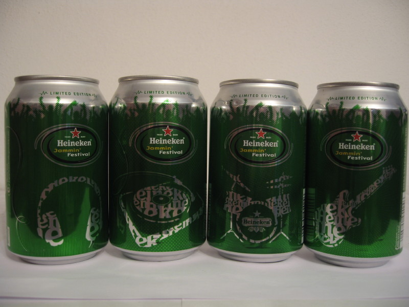 Heineken Jammin festival 4 cans set from Italy (33cl) (B/O)
