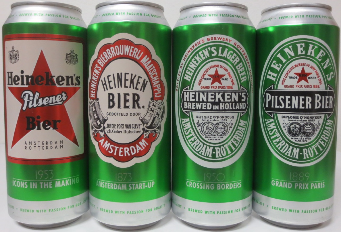 Heineken 4 cans set from HUNGARY (50cl)