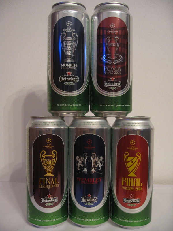 HEINEKEN UEFA set from HUNGARY (50cl) (B/O)