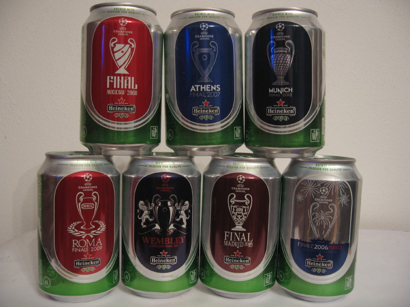 Heineken UEFA set from ITALY (33cl) (B/O)