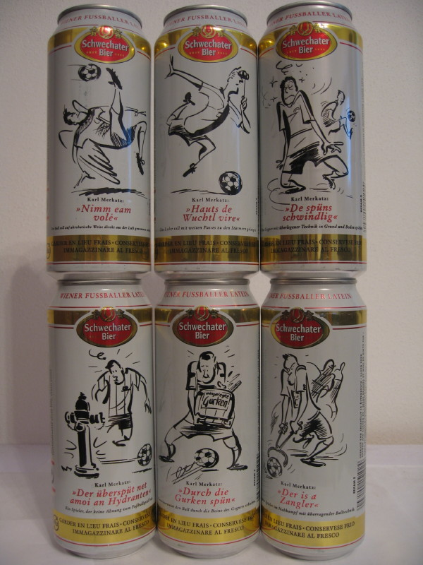 Schwechater Bier football (50cl) (B/O)