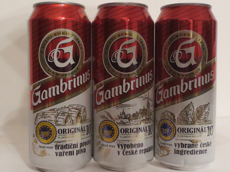 Gambrinus 3 cans set from CZECH REPUBLIC (50cl)