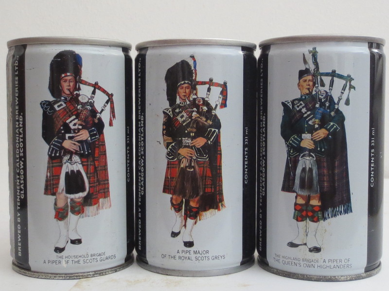 PIPER EXPORT ALE CS cans set from SCOTLAND (33cl)