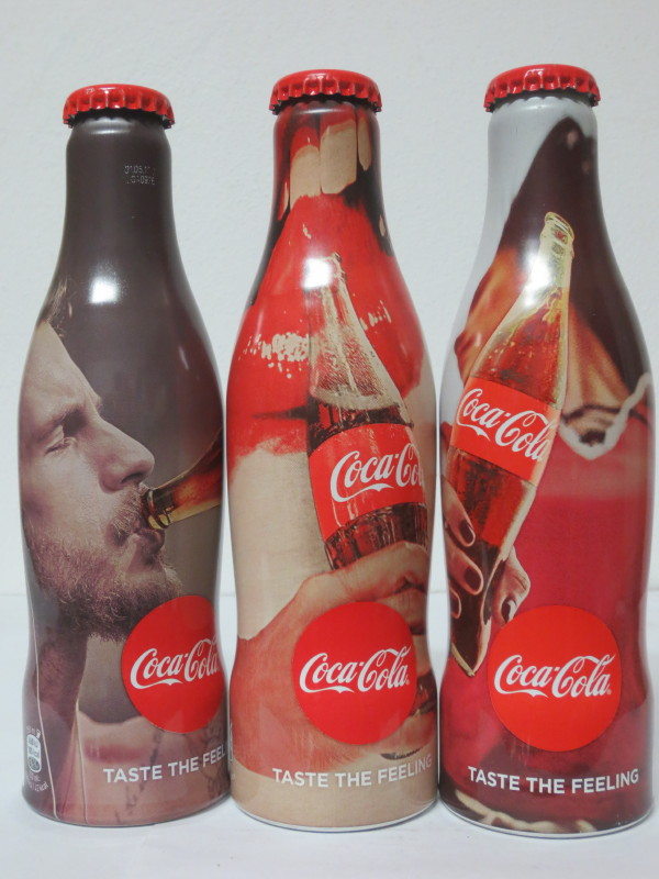 AUSTRIA Coca Cola TASTE THE FELING SET 3 BOTTLES  (25cl)