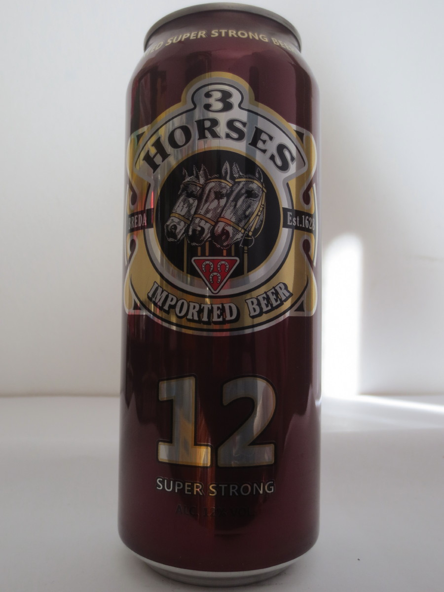 3 HORSES IMPORTED BEER 12 SUPER STRONG (50cl) (B/O)