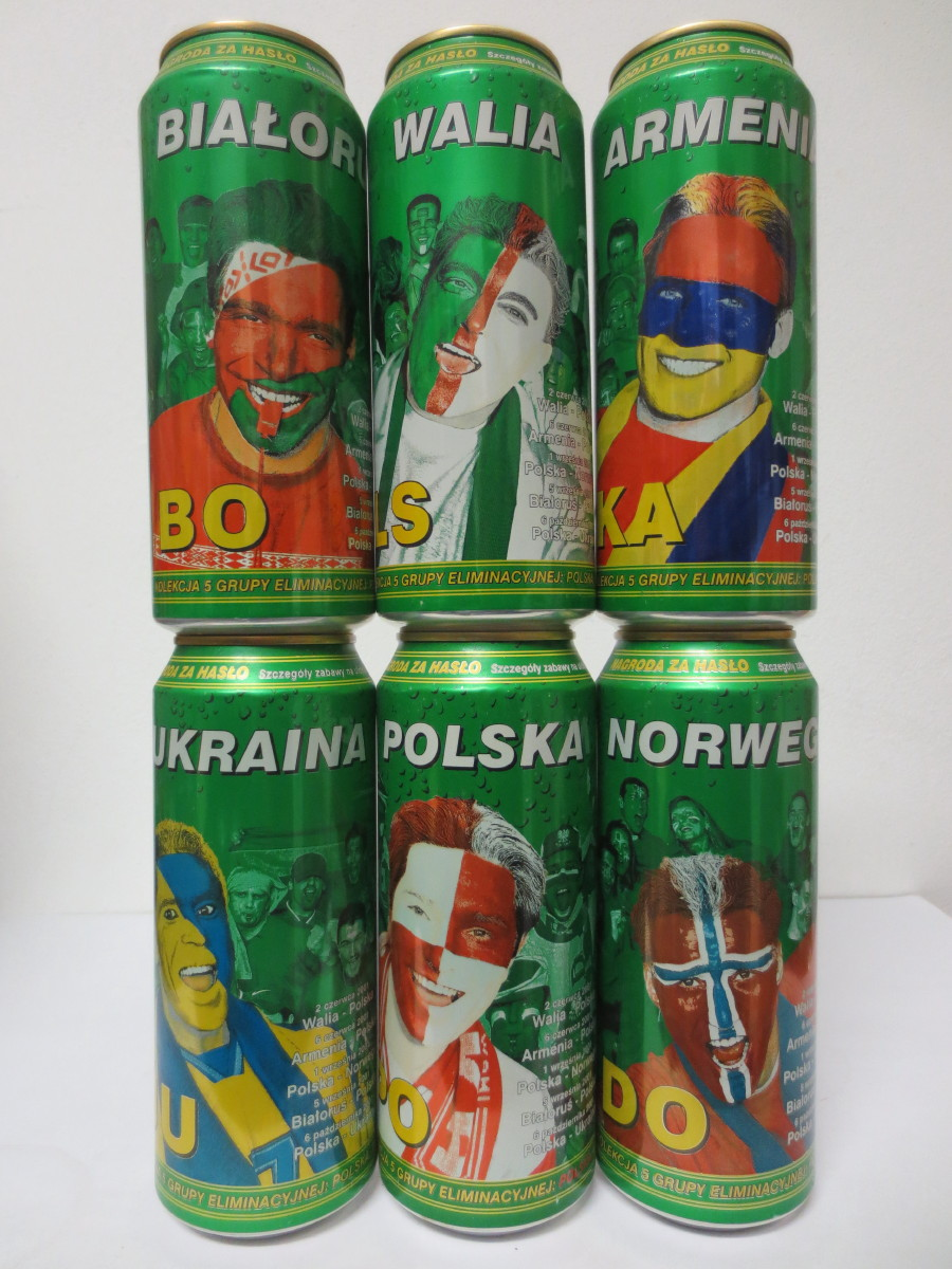 LECH complete football 6 cans set from POLAND (50cl) (B/O)