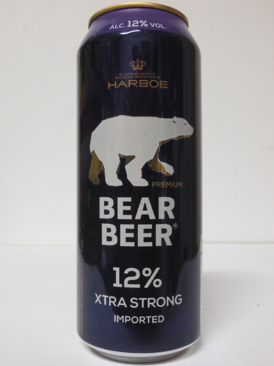 HARBOE BEAR BEER 12% XTRA STRONG IMPORTED (50cl)