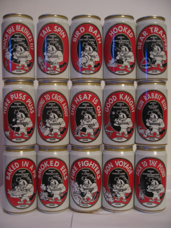 BRONCO´S complete 15 cans set from AUSTRALIA (37,5cl) (B/O)