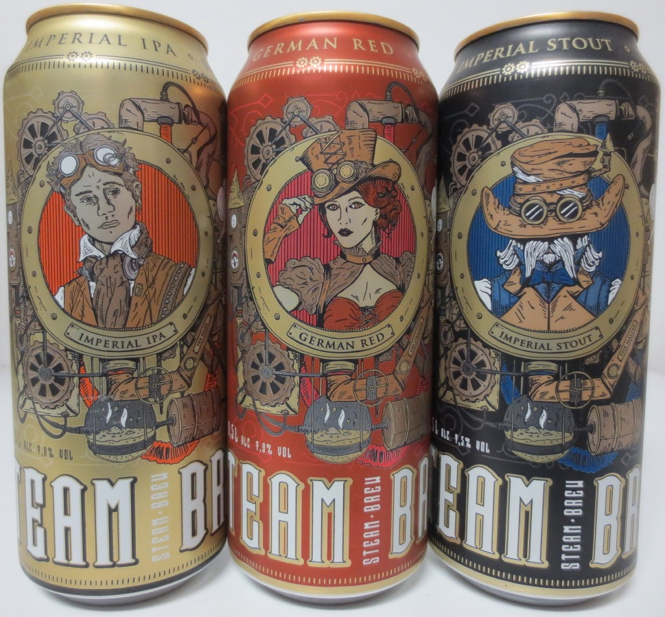STEAM BREW 3 cans complete set for GERMANY market (50cl) (B/O)