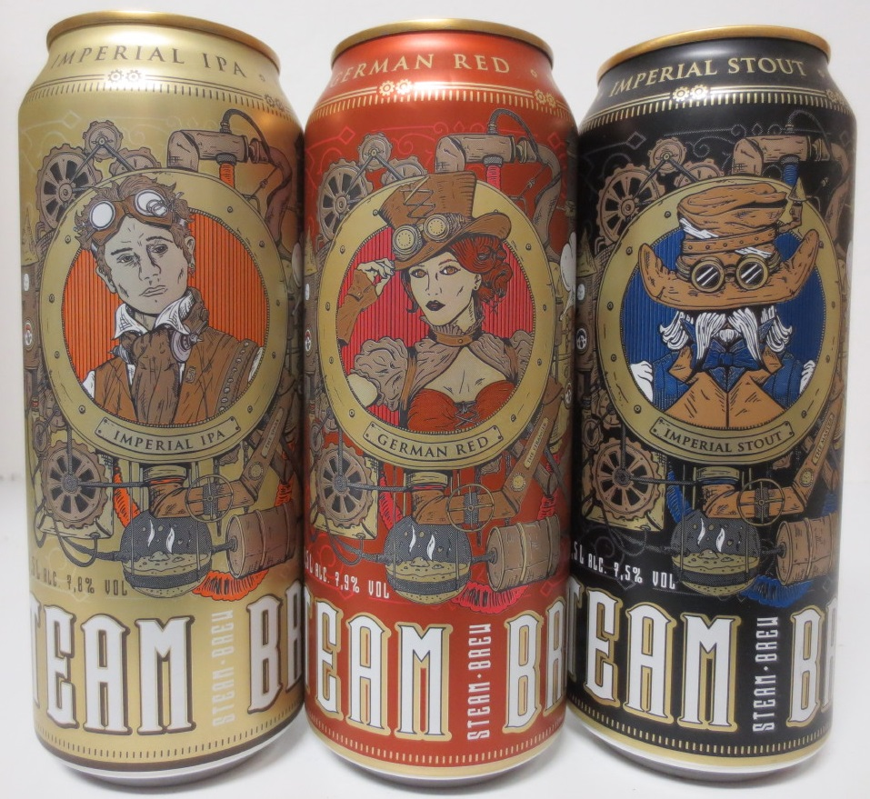 STEAM BREW 3 cans complete set for OST EUROPA market (50cl) (B/O)