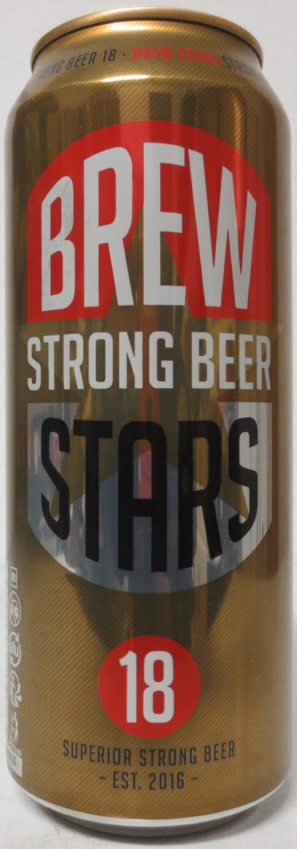 BREW STRONG BEER STARS from HOLLAND (50cl) (B/O)