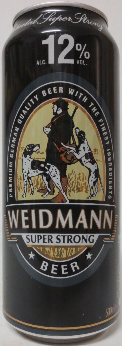 WEIDMANN SUPER STRONG BEER from HOLLAND (50cl) (B/O)