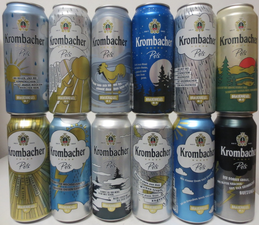 Krombacher complete set from Germany (50cl) (B/O)